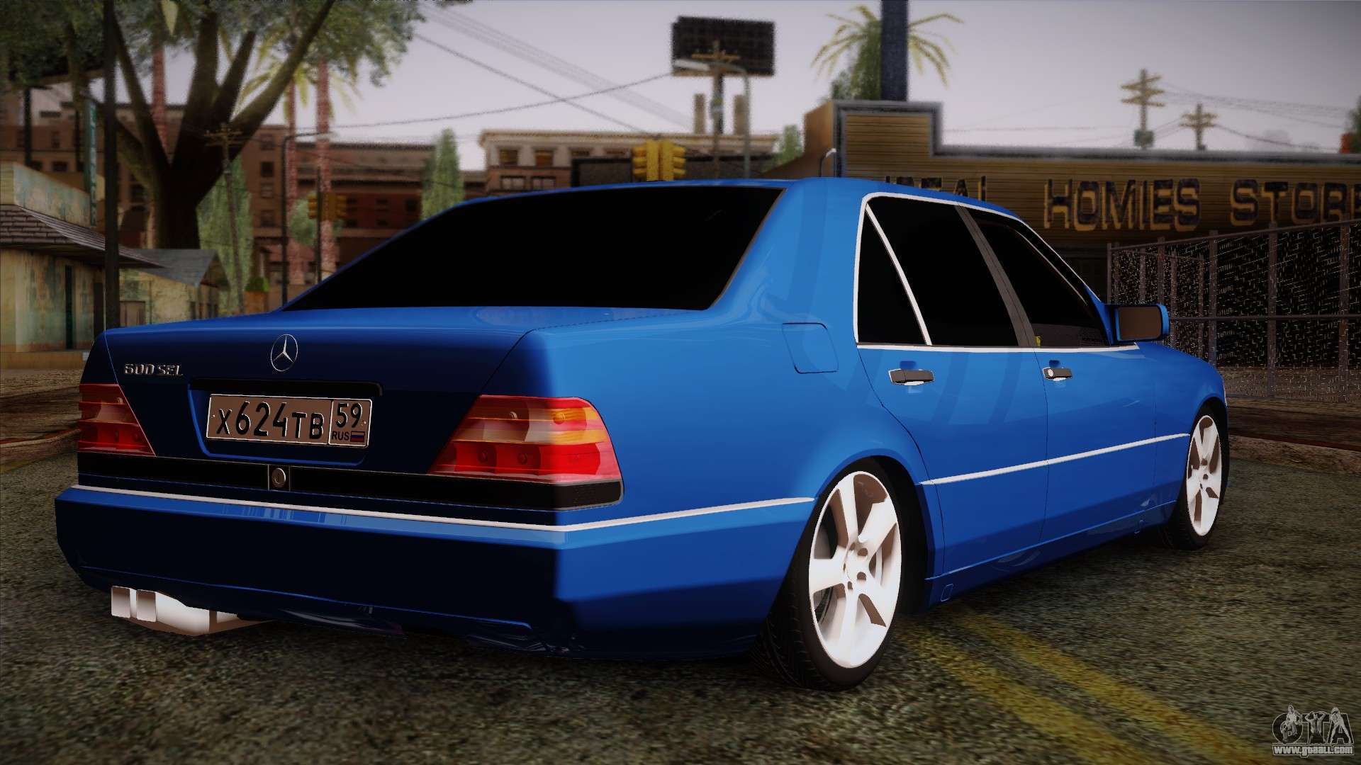 mercedes benz w140 for gta san andreas. Black Bedroom Furniture Sets. Home Design Ideas