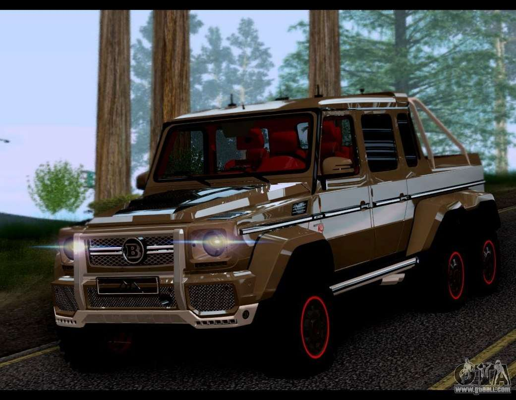 Brabus 700 mercedes benz g63 amg 6x6 for gta san andreas for Mercedes benz amg g63 6x6