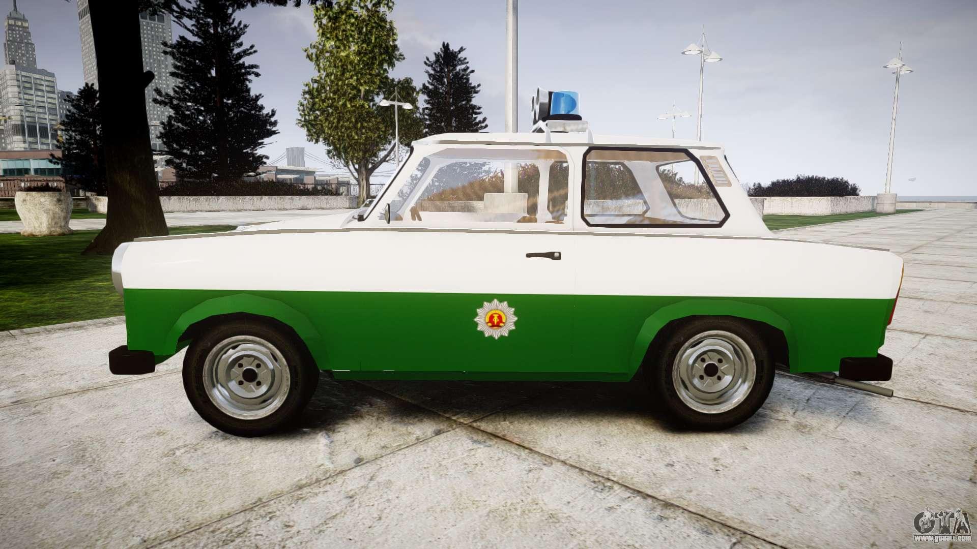 trabant 601 deluxe 1981 police for gta 4. Black Bedroom Furniture Sets. Home Design Ideas