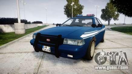 GTA V Vapid Police Cruiser Gendarmerie1 for GTA 4