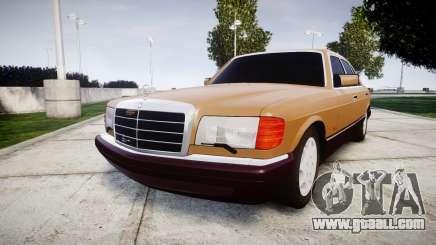Mercedes-Benz 560SEL W126 for GTA 4