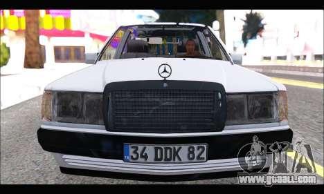 Mercedes Bad-Benz 190E (34 DDK 82) for GTA San Andreas left view