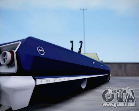 Chevrolet Impala 1963 for GTA San Andreas back view