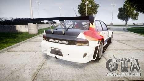 Mitsubishi Lancer Evolution IX HQ for GTA 4 back left view