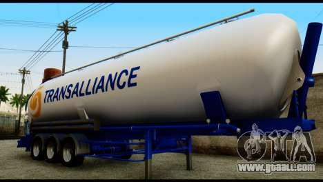 Mercedes-Benz Actros Trailer Transalliance for GTA San Andreas