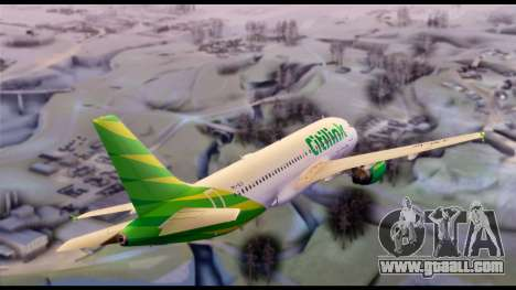 Citilink Airbus A320 PK-GLV for GTA San Andreas back left view