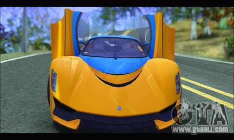 Grotti Turismo R v2 (GTA V) (IVF) for GTA San Andreas back view