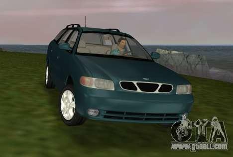 Daewoo Nubira I Wagon CDX US 1999 for GTA Vice City inner view