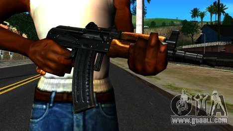 Bright AKS-74U v2 for GTA San Andreas third screenshot