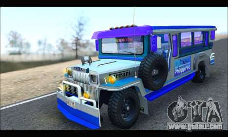 Light Jeepney for GTA San Andreas left view