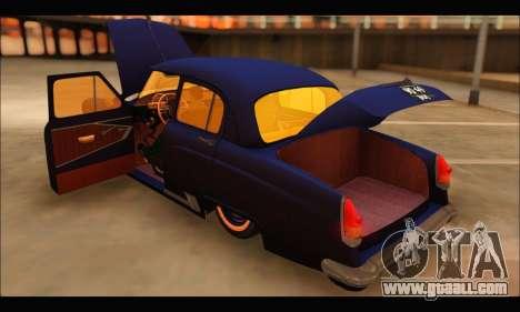 GAZ 21 Volga Resto for GTA San Andreas back view