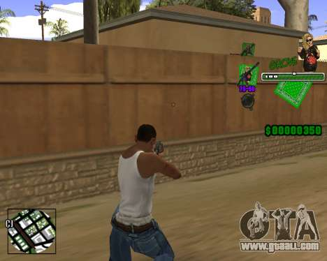 C-HUD Grove St. for GTA San Andreas second screenshot