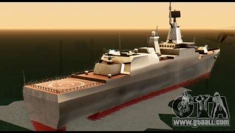 Admiral Sergey Gorshkov for GTA San Andreas back left view