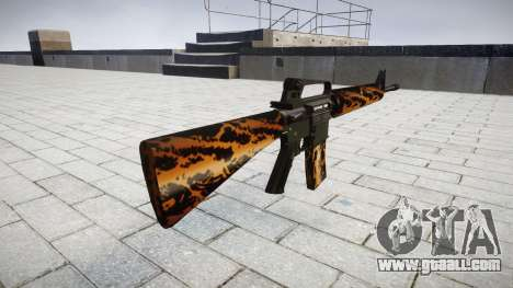 The M16A2 rifle tiger for GTA 4 second screenshot