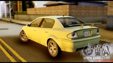 DeClasse Premier from GTA 5 for GTA San Andreas left view