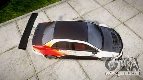 Mitsubishi Lancer Evolution IX HQ for GTA 4 right view