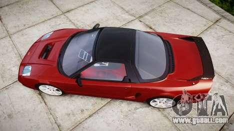 Honda NSX-R for GTA 4 right view