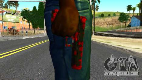 Pistol with Blood for GTA San Andreas third screenshot