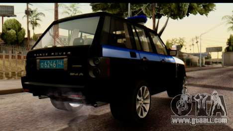 Land Rover ДПС for GTA San Andreas back view