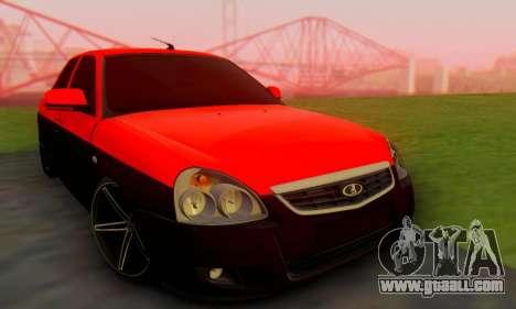 Lada Priora Glers Project for GTA San Andreas