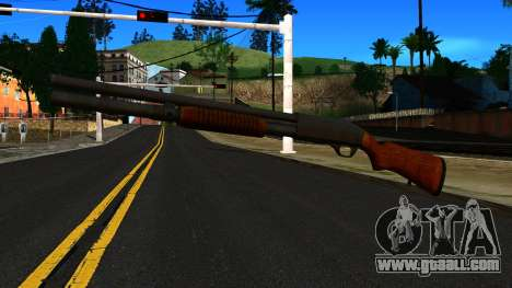 Wooden MP-133 Silver for GTA San Andreas