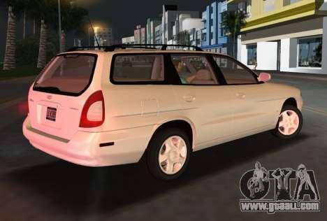 Daewoo Nubira I Wagon CDX US 1999 for GTA Vice City right view