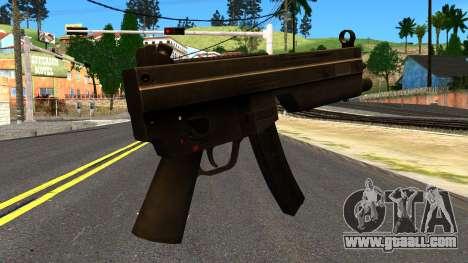 MP5 from GTA 4 for GTA San Andreas second screenshot