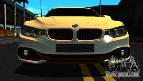 BMW 4-series F32 Coupe 2014 Vossen CV5 V1.0 for GTA San Andreas back view
