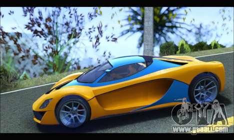 Grotti Turismo R v2 (GTA V) (IVF) for GTA San Andreas left view