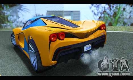 Grotti Turismo R v2 (GTA V) (IVF) for GTA San Andreas back left view