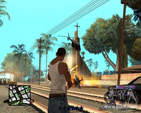 COSMOS C-HUD for GTA San Andreas second screenshot