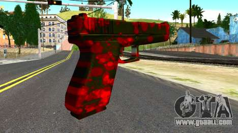 Pistol with Blood for GTA San Andreas second screenshot