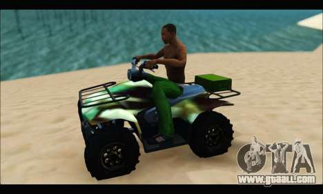 ATV Army Edition for GTA San Andreas left view