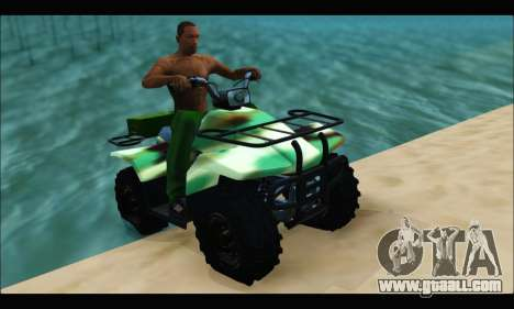ATV Army Edition for GTA San Andreas back left view