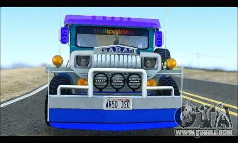 Light Jeepney for GTA San Andreas