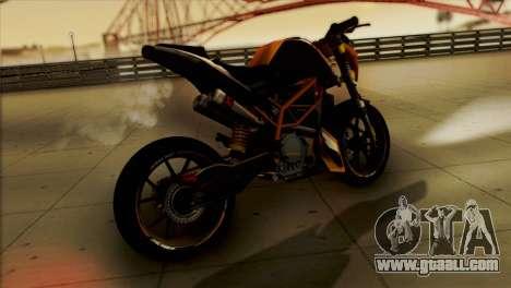 KTM Duke 125 for GTA San Andreas left view