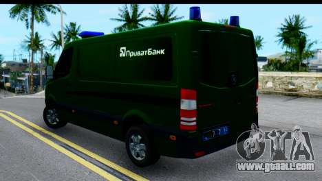 Mercedes-Benz Sprinter PrivatBank for GTA San Andreas left view