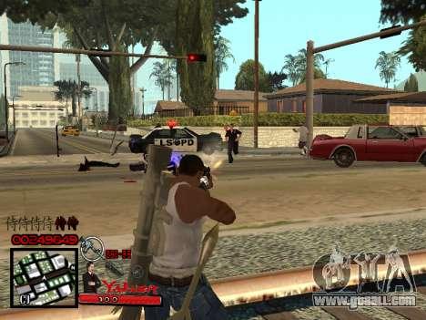 C-HUD Yakuza for GTA San Andreas forth screenshot