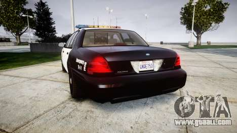 Ford Crown Victoria LAPD [ELS] for GTA 4 back left view