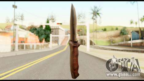 BB Cqcknife from Metal Gear Solid for GTA San Andreas second screenshot