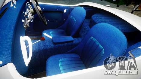 Austin-Healey 100 1959 for GTA 4 inner view