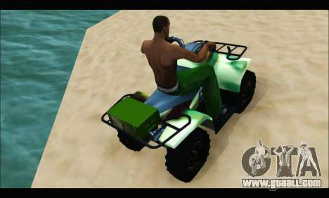 ATV Army Edition for GTA San Andreas right view
