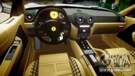 Ferrari 599 GTB 2006 Hamann for GTA 4 back view