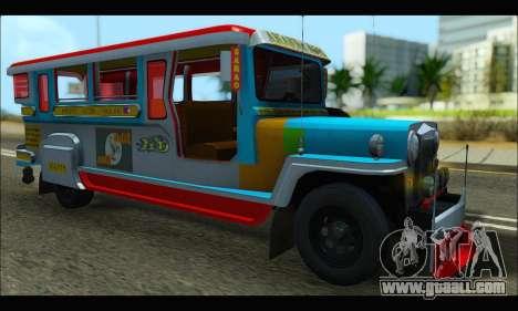 Jeepney Legacy for GTA San Andreas