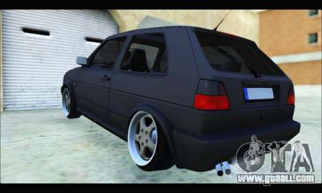 VW Golf MK2 for GTA San Andreas back left view