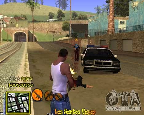 C-HUD Vagos Gang for GTA San Andreas fifth screenshot