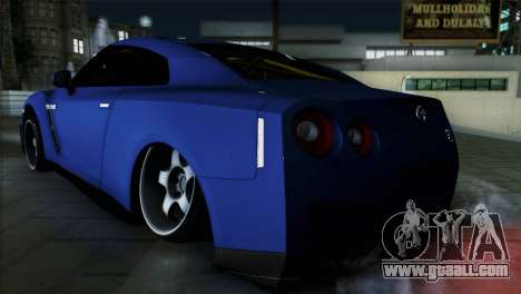 Nissan GT-R for GTA San Andreas left view