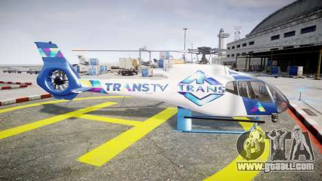 Eurocopter EC130 B4 TRANS TV for GTA 4 left view