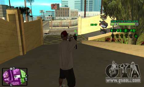 C-HUD Ghetto 4ever for GTA San Andreas second screenshot