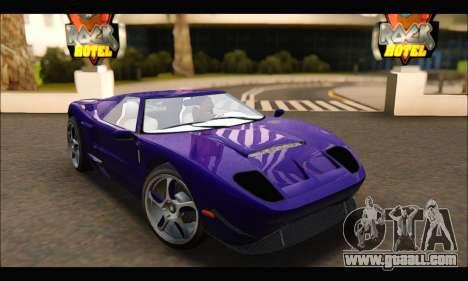Vapid Bullet Gt (GTA IV TBoGT) (IVF) for GTA San Andreas